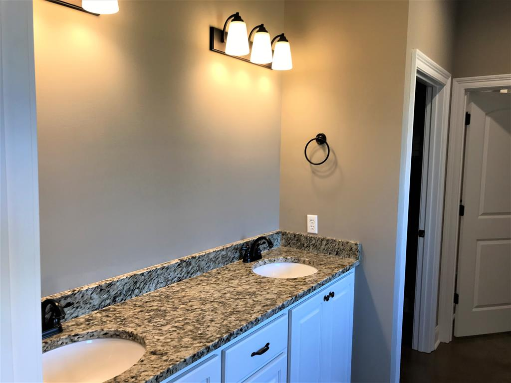Double vanities in the master bath.